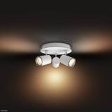 Afbeelding vanphilips Hue White Ambiance Adore LED plafondlamp, voor badkamer, aluminium, GU10, 5.5 W, energie efficiëntie: A, L: 27.5 cm, B: 25 H: 12 cm