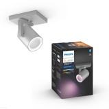Afbeelding vanphilips Hue Argenta LED spot 1 lamp aluminium, voor woon / eetkamer, kunststof, GU10, 5.7 W, energie efficiëntie: A++, L: 9 cm, B: H: 11 cm