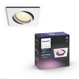 Afbeelding vanphilips Hue Centura LED inbouwspot hoekig, wit, voor woon / eetkamer, aluminium, kunststof, GU10, 5.7 W, energie efficiëntie: A++, L: 9 cm, B: cm