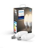 Afbeelding vanphilips Hue White 5,5W E14 LED kaarslamp set van 2, kunststof, E14, 5.5 W, energie efficiëntie: A+, L: 11 cm