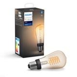 Afbeelding vanphilips Hue White E27 filament lamp Rustika ST64, kunststof, E27, 7 W, energie efficiëntie: A+, L: 11.5 cm