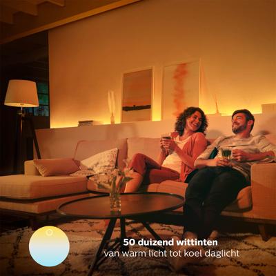 Afbeelding van philips Hue kaarslamp White Ambiance E14 6W, E14, 6 W, energie efficiëntie: A+, L: 11.7 cm