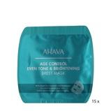 Abbildung vonAhava Age Control Even Tone & Brightening Sheet Mask 15 pcs Maske