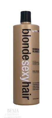 Afbeelding van 10% code LIEFDE10 Sexyhair Blondebombshell Blonde Shampoo Honey & Quinoa 1000 Ml