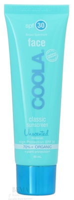 Afbeelding van 10% code LIEFDE10 Coola Classic Face Sunscreen Moisturizer Spf30 Unscented 50 Ml Moisturizers
