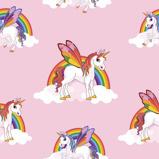 Afbeelding vanrainbow unicorn /eenhoorn papier behang