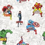 Afbeelding vanmarvel heroes papier behang