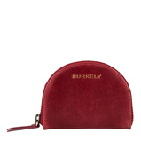 Afbeelding vanBurkely Edgy Eden Wallet Half Moon cherry red Dames portemonnee