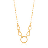 Εικόνα τουAnia Haie Chain Reaction Necklace AH N021 04G (Size: 44cm)