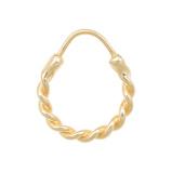 Afbeelding vanANNA + NINA 14 Karaat Gouden Essentials Single Rope Oorbel 18 1M902021G