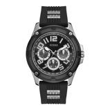 Afbeelding vanGuess GW0051G1 Delta horloge herenhorloge Zilverkleur,Zwart