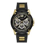 Afbeelding vanGuess GW0051G2 Delta horloge herenhorloge Goudkleur,Zwart