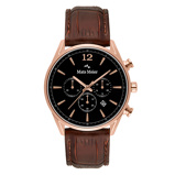 Afbeelding vanMats Meier Grand Cornier chronograaf heren horloge zwart/bruin