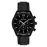 Afbeelding vanMats Meier Grand Cornier chronograaf heren horloge mat zwart