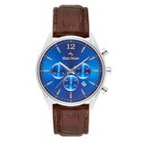 Afbeelding vanMats Meier Grand Cornier chronograaf heren horloge blauw/bruin