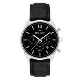 Afbeelding vanMats Meier Grand Cornier chronograaf heren horloge zwart/zwart