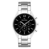 Afbeelding vanMats Meier Grand Cornier chronograaf heren horloge zwart/zilverkleurig staal