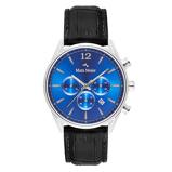 Afbeelding vanMats Meier Grand Cornier chronograaf heren horloge blauw/zwart