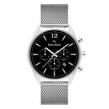 Afbeelding vanMats Meier Grand Cornier chronograaf heren horloge zwart/zilverkleurig mesh