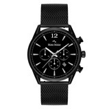 Afbeelding vanMats Meier Grand Cornier chronograaf heren horloge mat zwart mesh