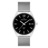 Afbeelding vanMats Meier Castor heren horloge zwart/zilverkleurig mesh