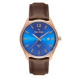 Afbeelding vanMats Meier Castor Blauw/Rosegoudkleurig horloge MM01013