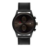 Afbeelding vanSem Lewis Metropolitan Finchley chronograaf herenhorloge gunmetal/zwart