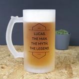 Afbeelding vanGepersonaliseerde bierpul the man myth legend