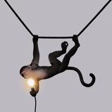 Afbeelding vanSeletti Monkey lamp Swingend / zwart voor binnen en buiten