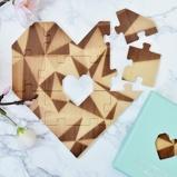 Afbeelding vanLuckies Houten hart puzzel Mint Groen