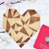 Afbeelding vanLuckies Houten hart puzzel Rood