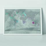 Afbeelding vanLuckies Scratch Map Platinum Kras Wereldkaart Grijs