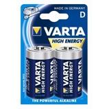Afbeelding vanBatterij Varta Longlife Power 2xD Staaf En Blokbatterijen