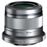 Afbeelding vanOlympus MFT 45mm F/1.8 zilver M.Zuiko Digital