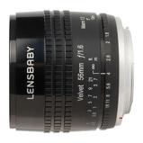 Afbeelding vanLensbaby Velvet 56 Fujifilm X mount objectief Zwart