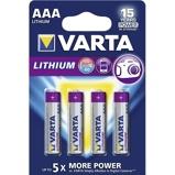 Afbeelding vanBatterij Varta Ultra lithium 4xAAA Staaf En Blokbatterijen