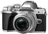 Afbeelding vanOlympus OM D E M10 Mark III Body Zilver + 14 42mm systeemcamera