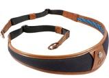Afbeelding van4V Design ALA Neck Strap Metal Ring Black/Brown