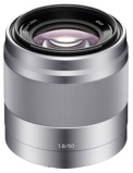 Afbeelding vanSony E 50mm f/1.8 OSS objectief Zilver (SEL50F18.AE)
