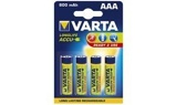 Afbeelding vanBatterij oplaadbaar Varta 4xAAA 800mAh ready2use Oplaadbare Batterijen