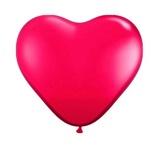 Afbeelding vanBallonnen folatex 12ln/30cm hart rood/8stk a12