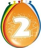 Afbeelding vanAmigo Ballonnen ster 30 cm: 2 jaar 8 stuks