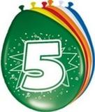 Afbeelding vanAmigo Ballonnen ster 30 cm: 5 jaar 8 stuks