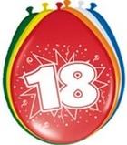 Afbeelding vanAmigo Ballonnen ster 30 cm: 18 jaar 8 stuks