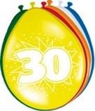 Afbeelding vanAmigo Ballonnen ster 30 cm: jaar 8 stuks