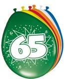 Afbeelding vanAmigo Ballonnen ster 30 cm: 65 jaar 8 stuks