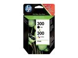 Afbeelding vanHP 300 cartridge Zwart + Combo Pack 3 Kleuren (CN637EE)