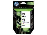 Afbeelding vanHP 21 22 (SD367AE) Inktcartridge Zwart + 3 kleuren Voordeelbundel