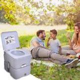 Immagine diCostway 20L Toilette portatile chimico da campeggio WC da campeggio carico 100kg Grigio