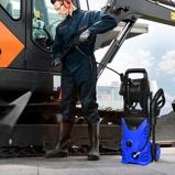 Immagine diCostway 1400W Idropulitrice portatile con 2030 PSI 5 0 L/Min ugello Lotus per la pulizia di giardini e auto Blu